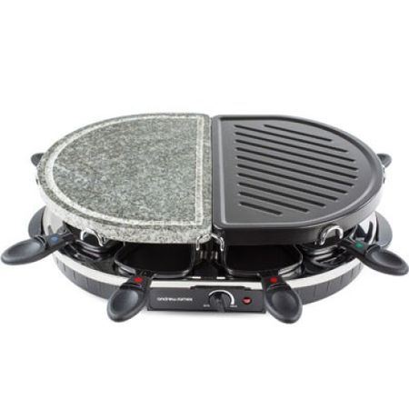 Gratar electric Traditional si cu Piatra Andrew James Raclette, mananca sanatos
