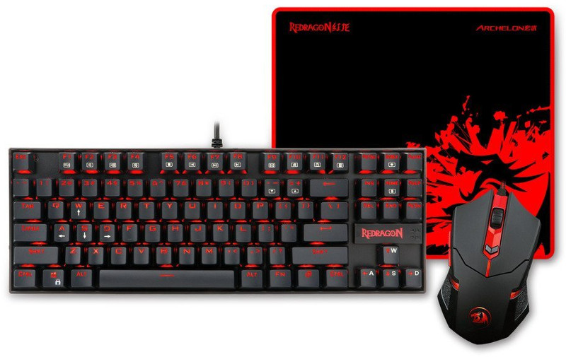 Kit Gaming Redragon Kumara + Centrophorus + Archelon M