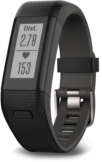 Bratara fitness Garmin Vivosmart HR+ (Black-Gray / Regular)