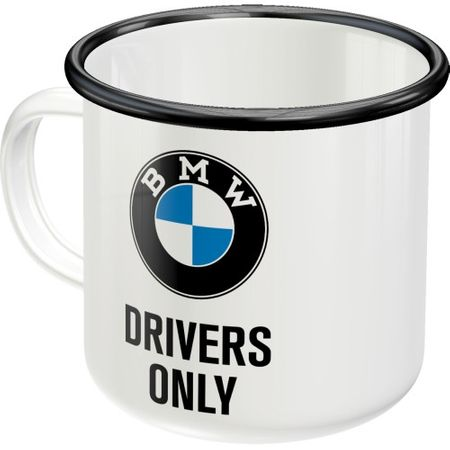 Cana metalica cu email BMW Drivers Only 360 ml