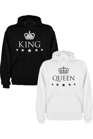 Set de 2 Hanorace cuplu King M   Queen S