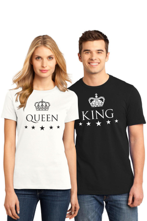 Set de 2 Tricouri cuplu King L   Queen L