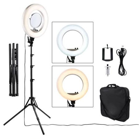 Lampa Profesionala LED Circulara Make UP, Photo Studio, Selfie Telefon, Ring Light 18inch - 50W cu 480 led-uri Temperatura de culoare 3200K-5500K