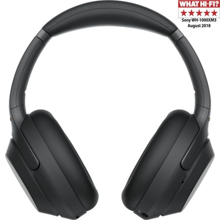 Casti Sony WH-1000XM3B, Noise canceling, Hi-Res, Google Assistant, Wireless, Bluetooth, NFC, LDAC, Negru