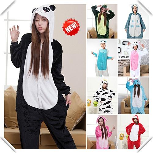 Pijamale intregi si pufoase tip salopeta - Kigurumi cu zeci de personaje din desenele animate