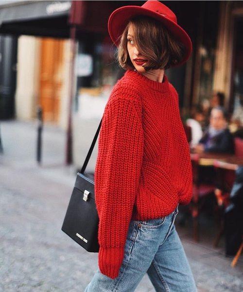 Cele mai frumoase pulovere si hanorace rosii de dama, de purtat in aceasta primavara