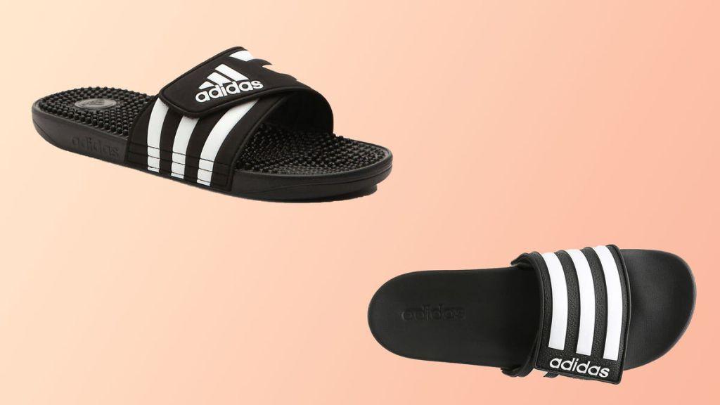 Șlapii De La Adidas Cu Alb Și Negru, Perfecți Si La Ținutele De Stradă
