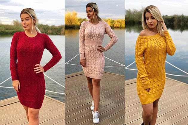Trend alert: rochii tricotate de iarna - lungi, lejere, confortabile
