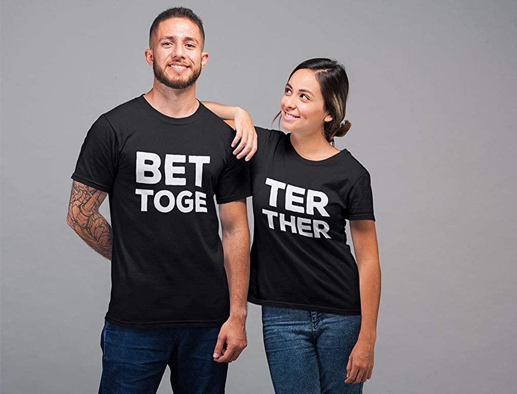 Tricouri pentru cupluri cu mesaje romantice, siropoase